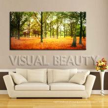Pintura moderna da árvore da paisagem na lona para pendurar na parede