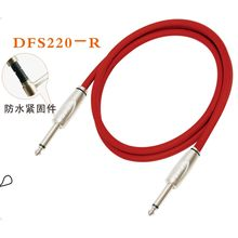 DFS Series Instrument Guitar Cable Jack to Jack Red