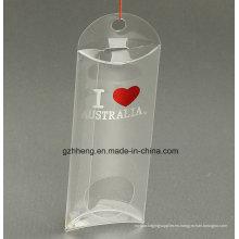 Logotipo personalizado pequeña caja plegable de plástico en forma de almohada