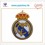 Embroidery patches and badges crown design 100% embroidered
