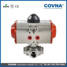 sus three way pneumatic valve