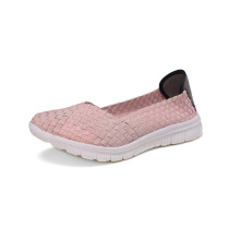 Comfortable Ballet Flats Pink Ballerina Woven Ballet Shoes