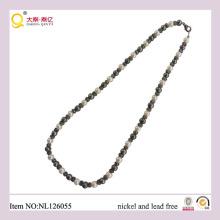 Classique collier de perles, collier en métal, court collier de perles, cadeau pour maman
