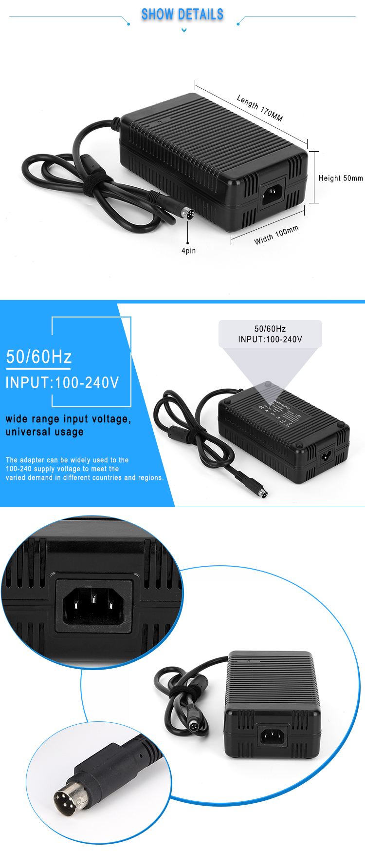 20v 9a laptop adapter