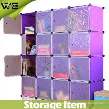 Puertas translúcidas opacas con diseño de armario de plástico rizado Sistemas de almacenamiento