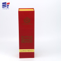 Folding cardboard paper wine packaging box with lint
