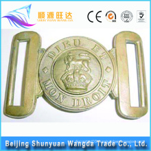 High Quality die casting factory Rhinestone Metal Solid Brass Belt Buckles for Pallet Bundling