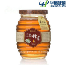 350ml 750ml Round Honey Glass Jar with Metal Lid
