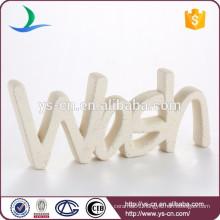 Wholesale promotional WASH letter ceramic Instructions marked
