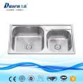 cUPC mejor calidad doble tazón 304 acero inoxidable fregadero superior de la cocina