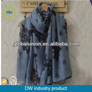 Wholesale fashion pashmina scarf lady snow printed scarf