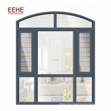 Curved Aluminum Window Frames Designs with Tempered Glass