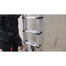 Escalera Loft plegable telescópica telescópica de aluminio de 16 pasos Escalera extensible portátil de uso múltiple alto