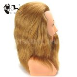 100%human hair hand-painted mannequin head