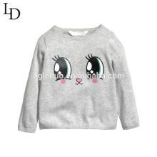 A roupa das crianças projeta a camisola bonito do bebé do algodão das crianças