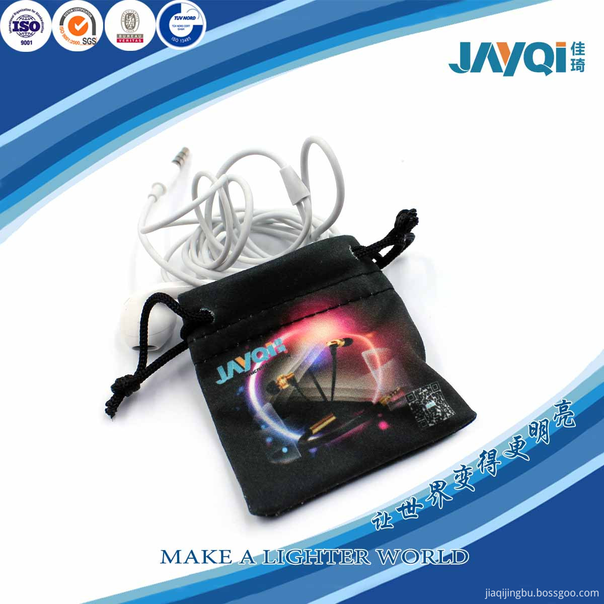 Digital Printing Microfiber Jewelry Bags Wholesale