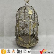 Weinlese-Metalldraht-Blumengroßverkauf-dekorative Vogel-Käfige, die Wedding sind