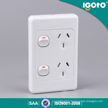 Australia Type Double Powerpoints Switch Wall Socket 250V