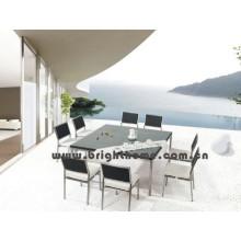 Muebles al aire libre de la rota de la felpa del patio del acero inoxidable (BP-312)