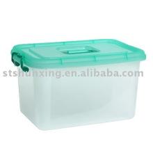 caixa de armazenamento de plástico 22L atacado com tampa de guangdong