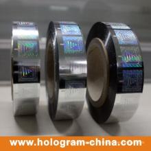 Lámina de estampado en caliente de holograma para papeles y plásticos