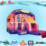 princess pink inflatable bouncy castle