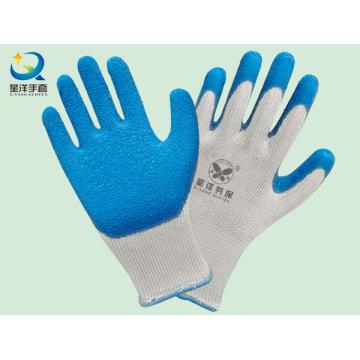 Guantes de seguridad de 10g T / C Shell Latex Palm Coated