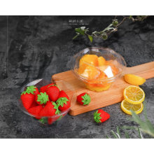 Pet Clear Plastic Compartment Take Away Salad Food Container Tray 17