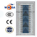 Silver Color 304 Stainless Steel Outside Security Metal Door (W-GH-30)
