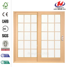 Woodgrain Interior Glass Patio Door