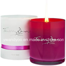 2015 Hot Sale Soy Scented Luxury Candle in Red Jar