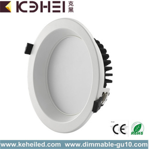 White Black Silver Downlights 12W 4 Inch 4000k