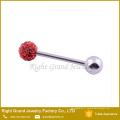 En gros de haute qualité en acier inoxydable strass Crystal Ball languette
