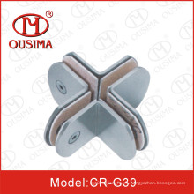 Forma redonda 360 grados de acero inoxidable de vidrio de hardware de montaje (CR-G37)