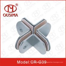 Forma redonda 360 graus de aço inoxidável de montagem de hardware de vidro (CR-G37)