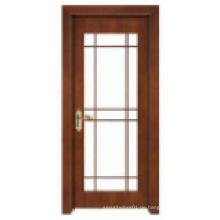 Einfache klassische Design mit Glasfenster Solide Holztür
