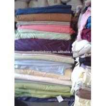 Tejido de sábanas teñidas con sábanas de palin 100% algodón o CVC