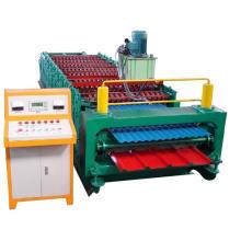 Machine de formage de rouleaux de tuiles à double couche