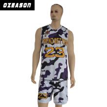 100% poliéster Sportswear Jersey de baloncesto sin mangas del hombre