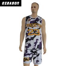 100% poliéster sportswear homem mangas de basquete jersey