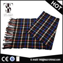 Écharpe en gros en coton tartan tissé