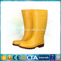 PVC steel toe safety boots for construction
