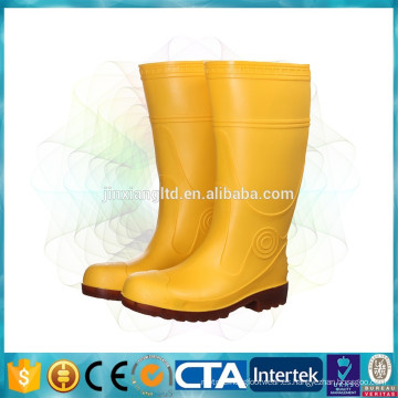 Botas de seguridad de acero de PVC para construcción