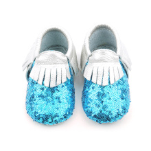 Sequins Moccasins Sliver Baby Shoes Оптовые продажи