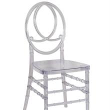 Σταθερή κρυσταλλική Φοίνιξ καρέκλα με μαξιλάρι