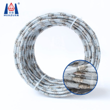 Vacuum Brazed Bead Diamond Wire Saw Rope for Marble Cutting