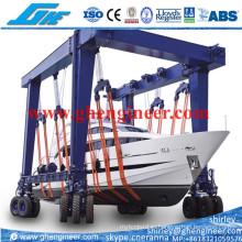 Резиновый передвижной портальный кран для обслуживания судна на яхте