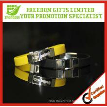 Pulseira de silicone de metal de presentes de liberdade