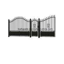 Porte de fer de jardin avec l'extrémité pointue Galvanisé plongé finissant la bonne qualité