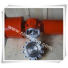 Válvula Borboleta Pneumática do Tipo do Suporte (D971H)